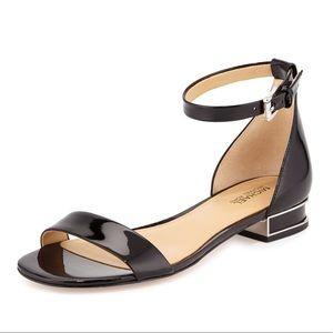 Michael Kors Joy Patent Flat Sandals